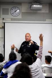 Officer Landis teaching the G.R.E.A.T. Program